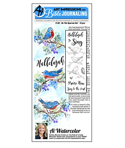 Art Impressions WC5130 Bible Journaling Watercolor Rubber Stamps-On The Sparrow