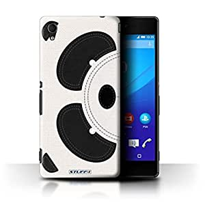 STUFF4 Phone Case / Cover for Sony Xperia M4 Aqua / Panda Design / Animal Stitch Effect Collection by Stuff4®