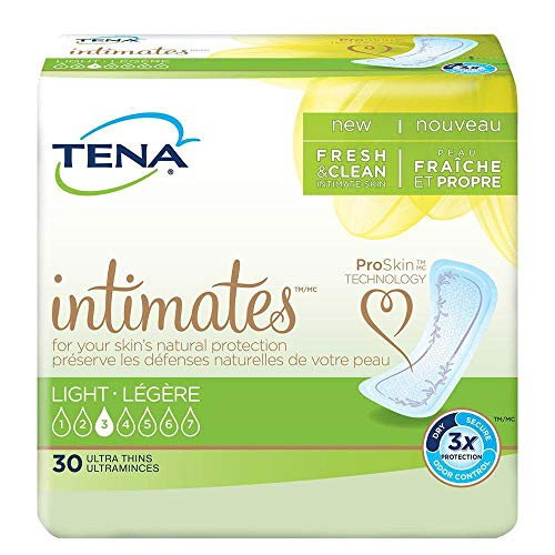 TENA Intimates Light Ultra Thin Pads Regular Case/180 (6/30s)