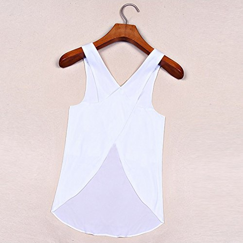 Vest Tank White Blouse Womens T Yalatan Shirt Casual Sleeveless Blouse Top Tops 5cOaqSwqY