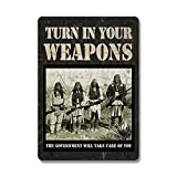 Rivers Edge Products Turn In Your Weapons Tin Sign, 16-Inch