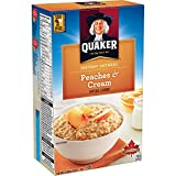 Quaker Instant Oats Peaches and Cream Oatmeal