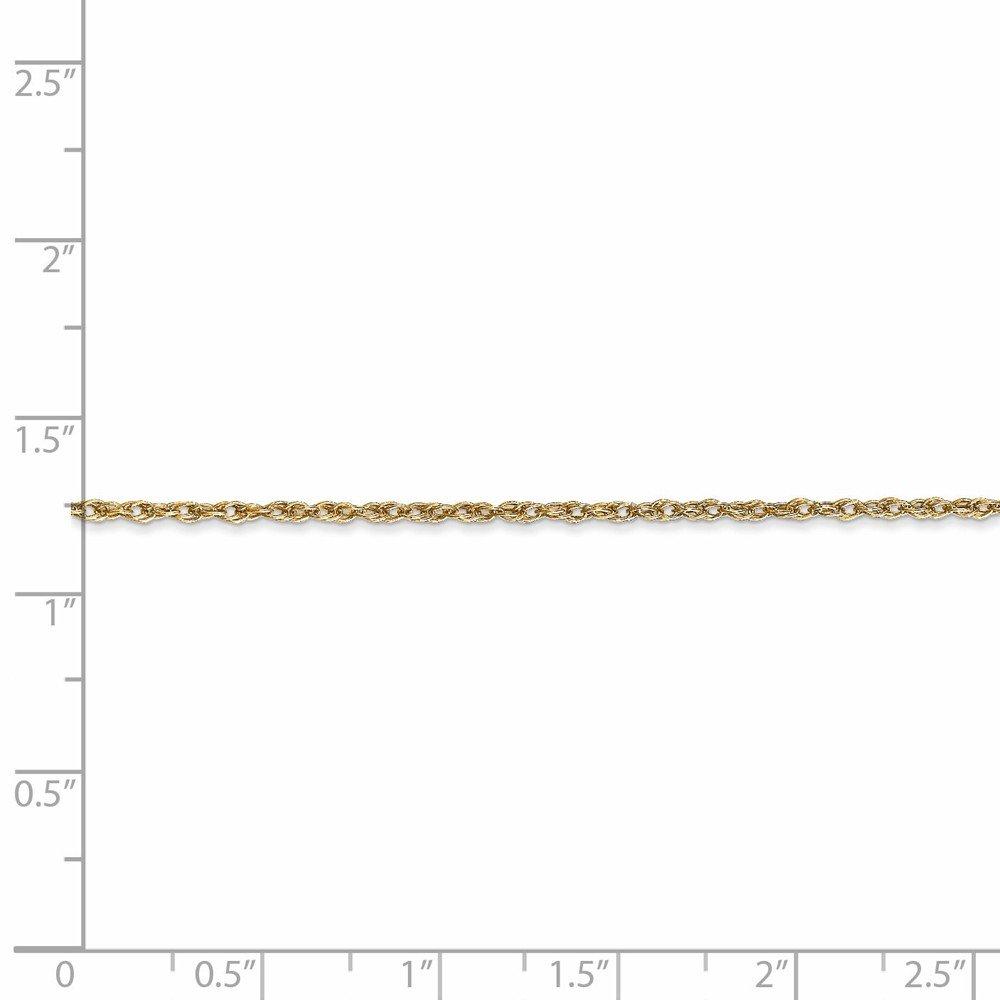 18K Yellow Neckalce 1.3MM 16 INCH Long 18k Leslies 1.3mm Heavy-Baby Rope Chain