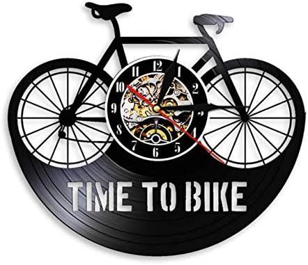 Time To Bike Bikers Cita de inspiración Decoración para el hogar Bicicleta de montaña Reloj de Pared Ciclista Antiguo Bicicleta Ciclista Retro Vinyl Record Reloj de Pared 12 Pulgadas Xi392: Amazon.es: Hogar
