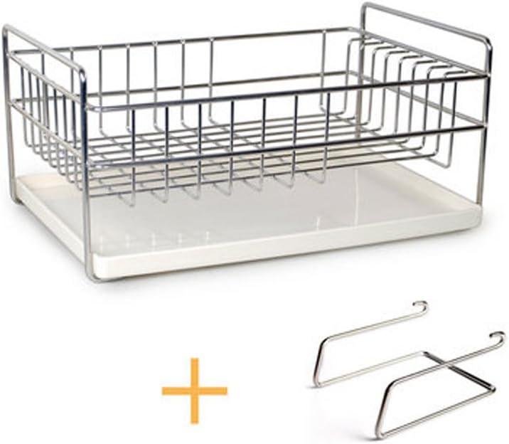 LXJ 水切りラック キッチンシェルフ 304ステンレススチール 水切りディッシュラック 多機能家庭食器ラック 食器ラック 水切り LXJYMX drainer rack