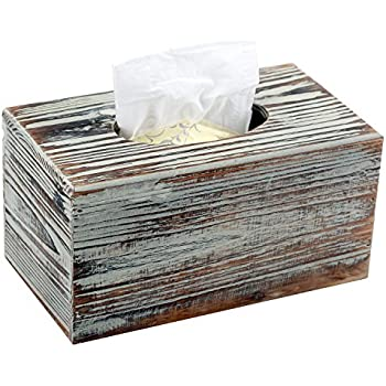Decorative Rustic Torched Wood Rectangular Facial Tissue Box Cover Holder  sc 1 st  Amazon.com & Amazon.com: Pandpal One Size Fits All Tissue Box Cover for Kleenex ... Aboutintivar.Com