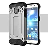 Onway Armor Hybrid Superior Hard PC And Pliable Rubber Drop Resistance Defend Case For Samsung Galaxy S7 Edge 5.5 Inth Silver