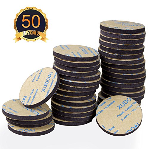 50 Pieces Double Sided Black Foam Tape, Yanyi Strong Pad Mounting Adhesive, Rectangle and Round DIY Self Adhesive Tape (Round)