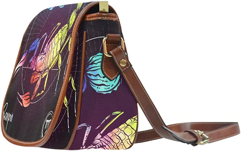 Scorpio Zodiac Sign Astrological Horoscope Collection Travel Shoulder Bag Flap With Magnetic Snap Printed Shoulder Travel Bag Travel Bags Shoulder