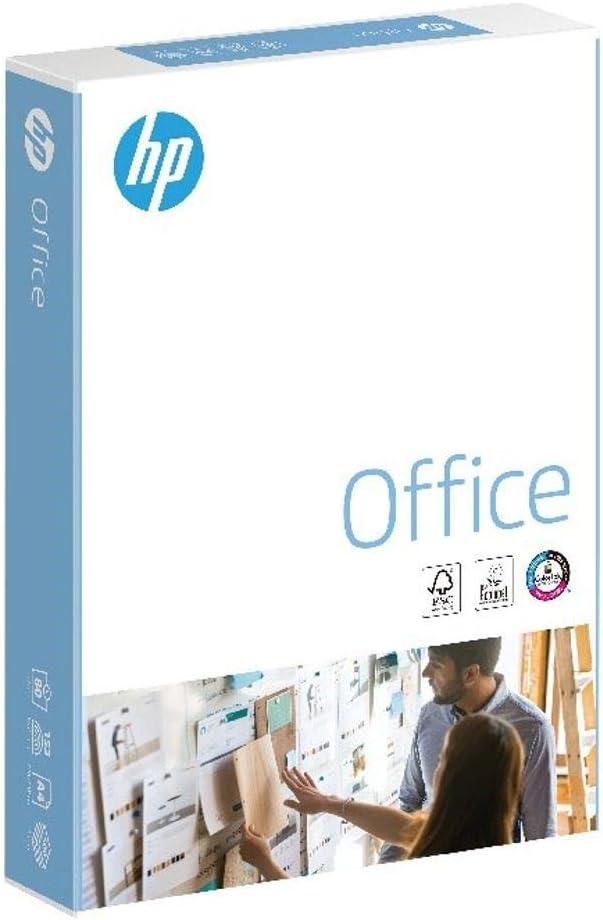 HP CHP110 - Caja de 5 paquetes de folios (A4, 210 x 297 mm, 80 g/m², 500 folios cada 1), color blanco: Amazon.es: Oficina y papelería