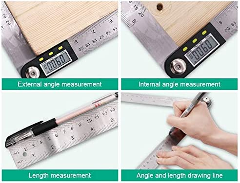 Shixindianzi Measure Range 500mm Digital Display Angle Finder Meter Protractor Goniometer Ruler