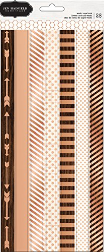 American Crafts Pebbles PB JH Warm & Cozy Washi Tape Strips Rose Gold Foil Stickers (3 Sheets)