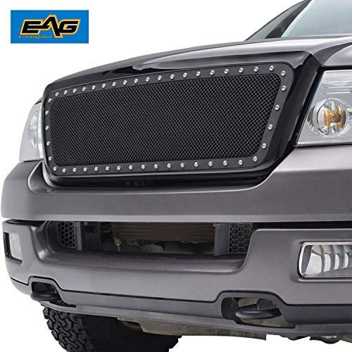 Tidal 2004-2008 Ford F150 Replacement Rivet Black Wire Mesh Grille With Shell