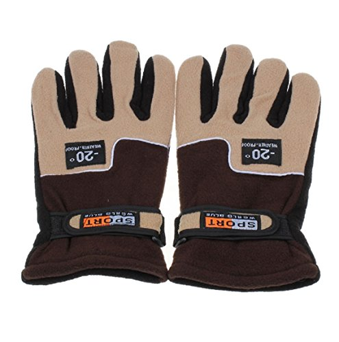 Sopety Windproof Men Thermal Winter Motorcycle Ski Snow Snowboard Gloves Mitten (Carhartt Leather Waterproof Glove)