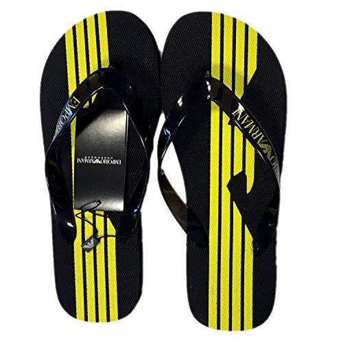 En Goma Sea Chanclas Nuevo Zapatillas Armani Ea7 Hombres World Emporio Schwarz Sandalias wY0zq