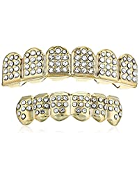 18K Gold Plated Brass Crystal 6-Tooth Grillz