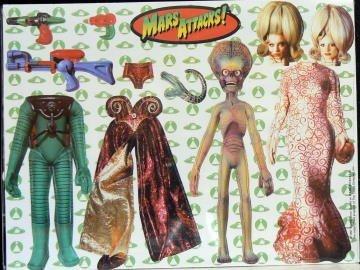 """MARS ATTACKS! - """"Refrigerator Magnets"""""""