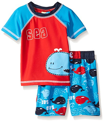 Sol Swim Baby Whale at Sea Rash Guard Set, Multi, 18 Months