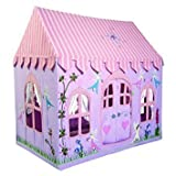 Win Green Large Fairy Cottage 100% Cotton Embroidered and Appliqued Playhouse