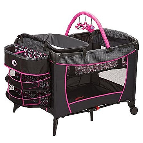 Disney Baby, Infant Play Yard, Play Pen With Changing Station (Minnie Pop) by Disney