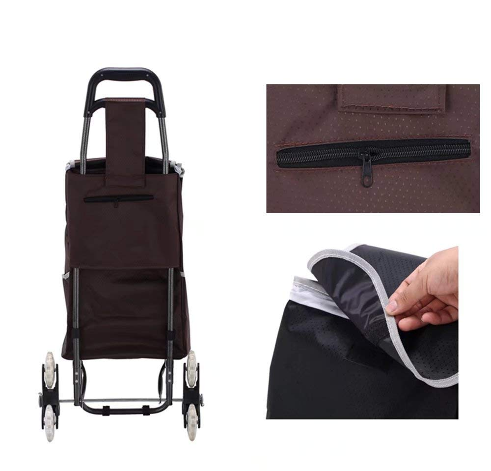 Zehaer Portable Trolley, Climb The Shopping cart, Stroller, Trolley cart, Folding/Home cart (Color:#03) (Color : #03) by Zehaer (Image #4)