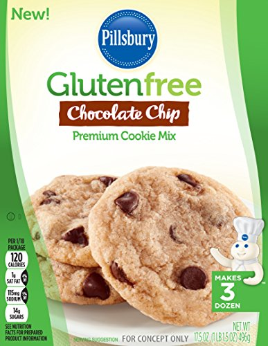 Pillsbury Gluten-Free Chocolate Chip Premium Cookie Mix, 17.5 Ounce (Pack of 12)