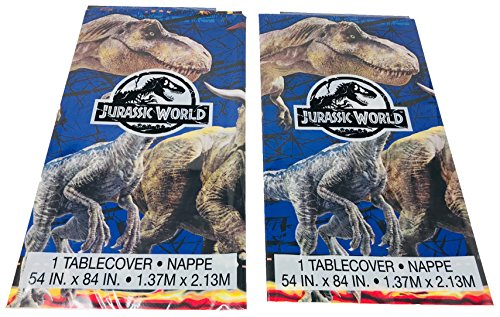 Jurassic World Fallen Kingdom Plastic Tablecover Party Supplies, 2 Pack by Unique Industries