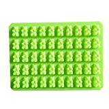 Silicone molds new 60 lattices bear shape DIY chocolate mold ice cube silicone jelly - Green Color