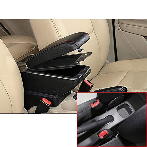 Muchkey auto Interior partes Caja de lujo Centro Consola Apoyabrazos con 7 USB de almacenamiento Para 2005-2018 Swift Negro