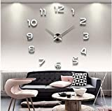 Wall Clocks Large Decorative 39 Inch DIY 3d Mirror Numbers Acrylic Sticker Wall Clock Decorative Living Room (5)