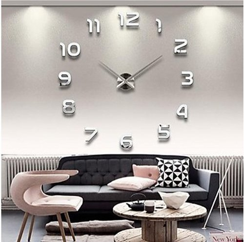 Wall Clocks Large Decorative 39 Inch DIY 3d Mirror Numbers Acrylic Sticker Wall Clock Decorative Living Room (5) by Wall Clocks