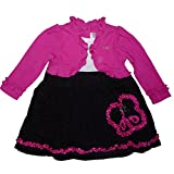 Youngland Baby Girls' A-Line Dress black pink 9-12 Months -  - 6-9 Months