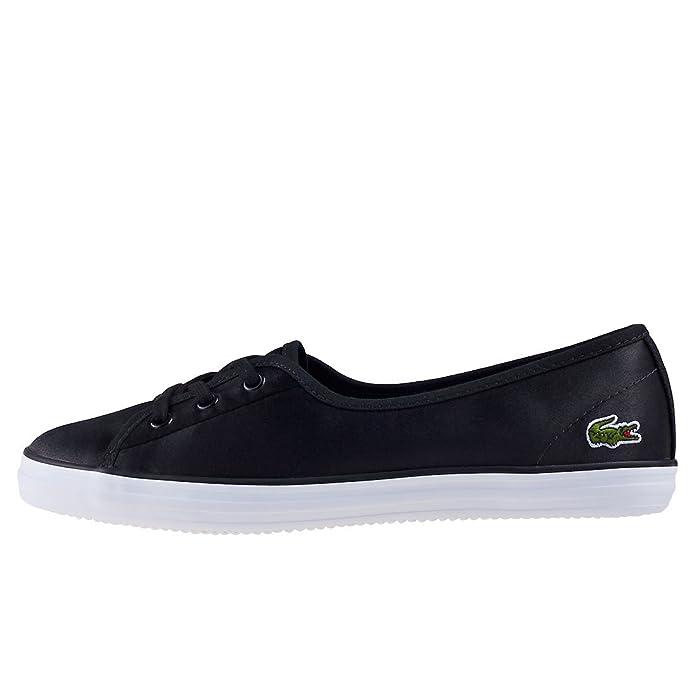 6e0921393926 Lacoste Sneakers Femme - Ziane Chunky (Black/White) (3.5): Amazon.fr:  Chaussures et Sacs
