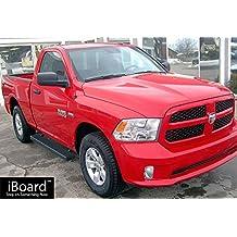 "Black 5"" iBoard Running Boards Fit 09-17 Dodge Ram 1500/2500/3500 Regular Cab"
