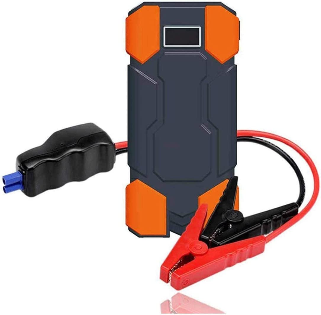 JJSFJH Car Emergency Start Power,12V Multi-Function Starter Power Supply Portable Car Jump Starter 800A 12V Battery Booster Pack And USB//Laptop Power Supply With LCD Display