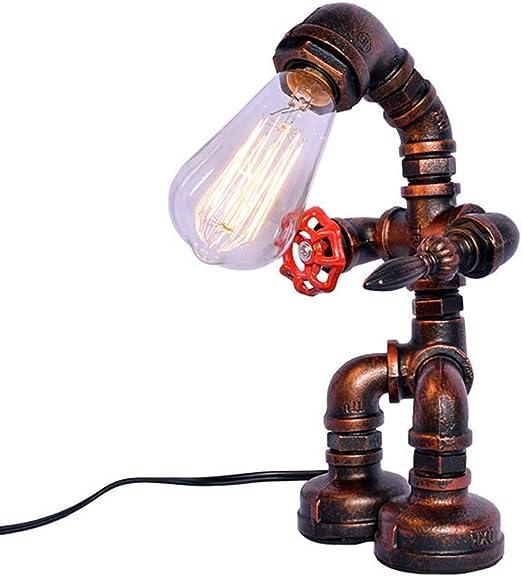Belief Rebirth Lámpara de Mesa Vintage Robot Steampunk Tubos de ...