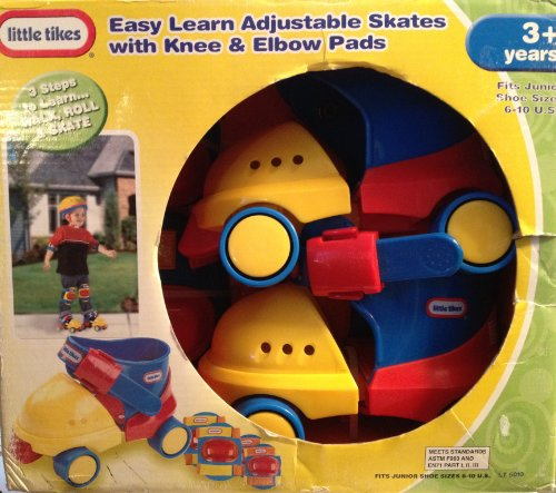 Little Tikes Easy Learn Adjustable Roller Skates with Knee &
