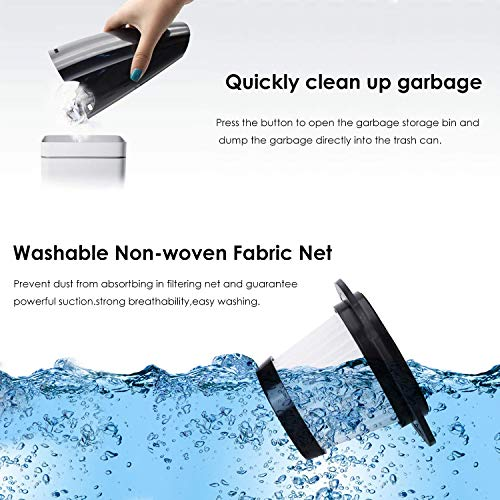 Handheld Vacuum Cordless, Portable Hand Vacuum Cleaner with High Power, Rechargeable Vacuum Cordless Car Vacuum Cleaners… 6