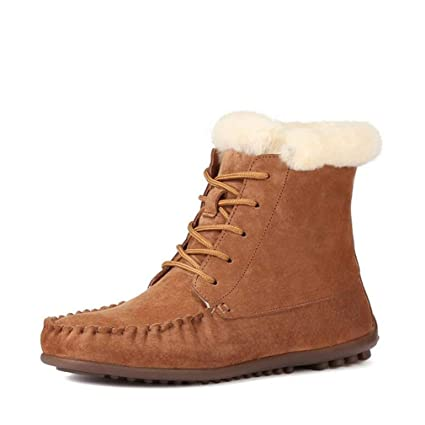 2a27ed535d80 Hy Women s Casual Shoes Winter Leather Plus Cashmere Fashion Martins Boots,High-top  Lace