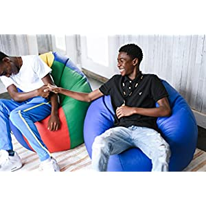 "ECR4Kids Standard Bean Bag Chair, Multicolor (35"")"
