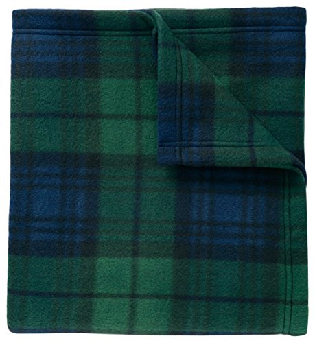Port Authority Core Printed Fleece Blanket_Black Watch Plaid Print_OSFA