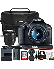 $559 » Canon EOS Rebel T7 DSLR Camera with 18-55mm Lens Starter Bundle + Includes: Canon EOS Bag + Sandisk Ultra 64GB Card + Clean and Care Kit + More (Renewed)