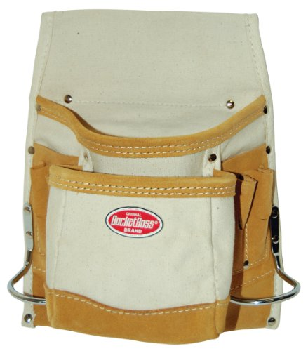 Suede Utility Bag (Bucket Boss 54061CN Canvas 8-Pocket Nail and Tool Bag with Reinforced Suede)