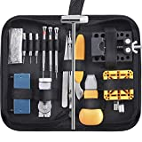 Paxcoo 168 Pcs Watch Repair Tools Kit Professional Watch Opener Spring Bar Tool Watch Band Link Pin Back Remover Tool with Carrying Case