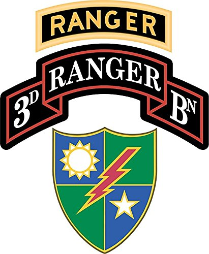(Vinyl USA 3rd Battalion, 75th Ranger Regiment with Ranger Tab 3.8 Inch Decal)