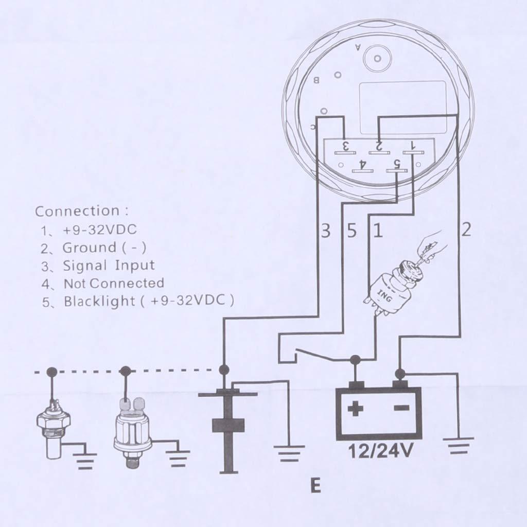 -30- N2 perfk 1 St/ück Voltmeter IP67 wasserdicht und staubdicht Batterie-elektrisches Voltmeter Betriebsstrom /≤60mA Betriebstemperatur 75 ℃