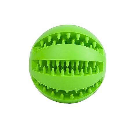 allbusky mascota perro de juguete bola Naturaleza goma hinchable pelota de juguete perro tratar alimentos alimentador bola de limpieza de dientes Bite ...
