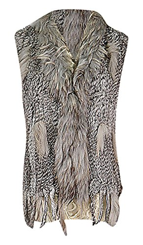 Maze, Women's Eclectic Faux Fur Segments Relaxed Fit Cave...