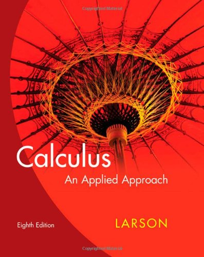 Calculus: An Applied Approach -  Larson, Ron, 8th Edition, Hardcover