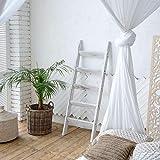 Hallops Blanket Ladder 5 ft. Premium Wood Rustic